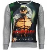 Local Fanatic Popeye Revenge Sweater - Herr Tröja - 5790G - Grå