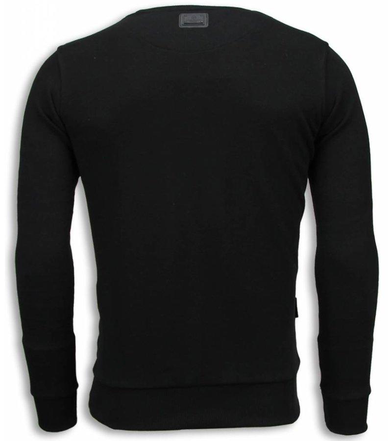 Local Fanatic Tiger Chick Sweater - Herr Tröjor  - 5789Z - Svart