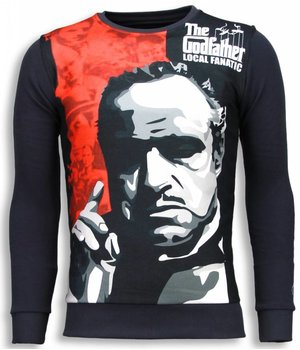 Local Fanatic Padrino The Godfather Sweater - Man Tröja - 5791G - Mörkgrå