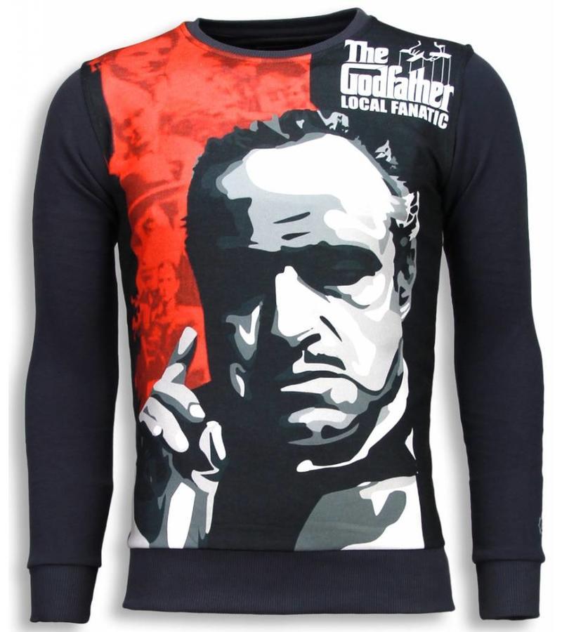 Local Fanatic Padrino The Godfather Sweater - Man Tröja - 5791G - Mörkgrå
