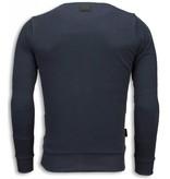 Local Fanatic Bad Ass Ink Sweater - Man Tröja - 5788G - Mörkgrå