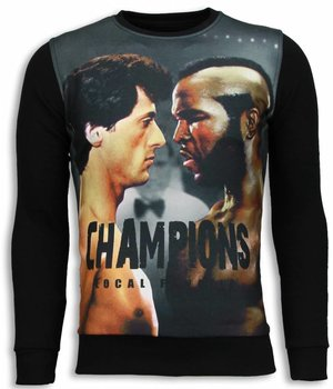 Local Fanatic Rocky III Champions Sweater - Herr tröja - 5792Z - Svart
