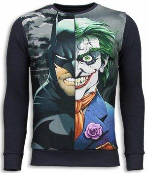 Local Fanatic Bad Joker Bad Man Sweater - Tjocktröja Herr - 5793G - Mörkgrå