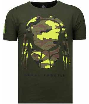 Local Fanatic Predator - Strass T Shirt Herren - Grün
