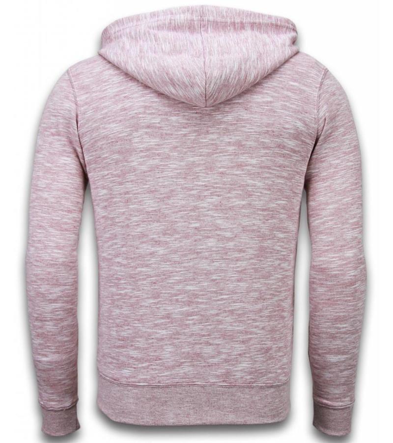 Enos Sweatjacke - Herren-pullover - Melange Zen Fleece - Bordeaux