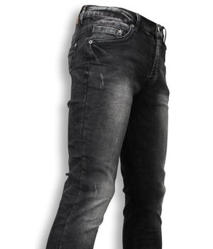 Black Ace Exclusiv Jeans - Slim Fit Washed Look Jeans - Schwarz