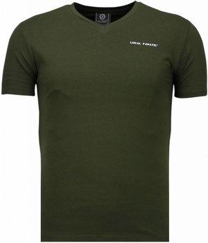 Local Fanatic Exklusiv V Neck - T-Shirt Herren - Grün