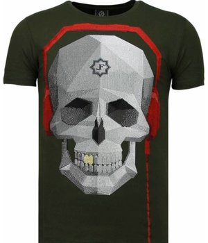 Local Fanatic Skull Bring The Beat - Strass T Shirt Herren - Grün