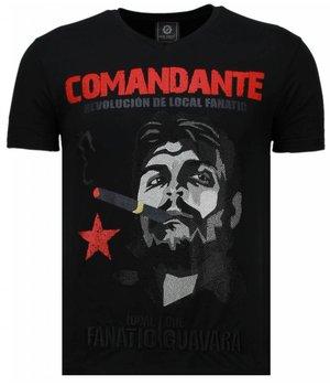 Local Fanatic Che Guevara Comandante - Strass T Shirt Herren - Schwarz