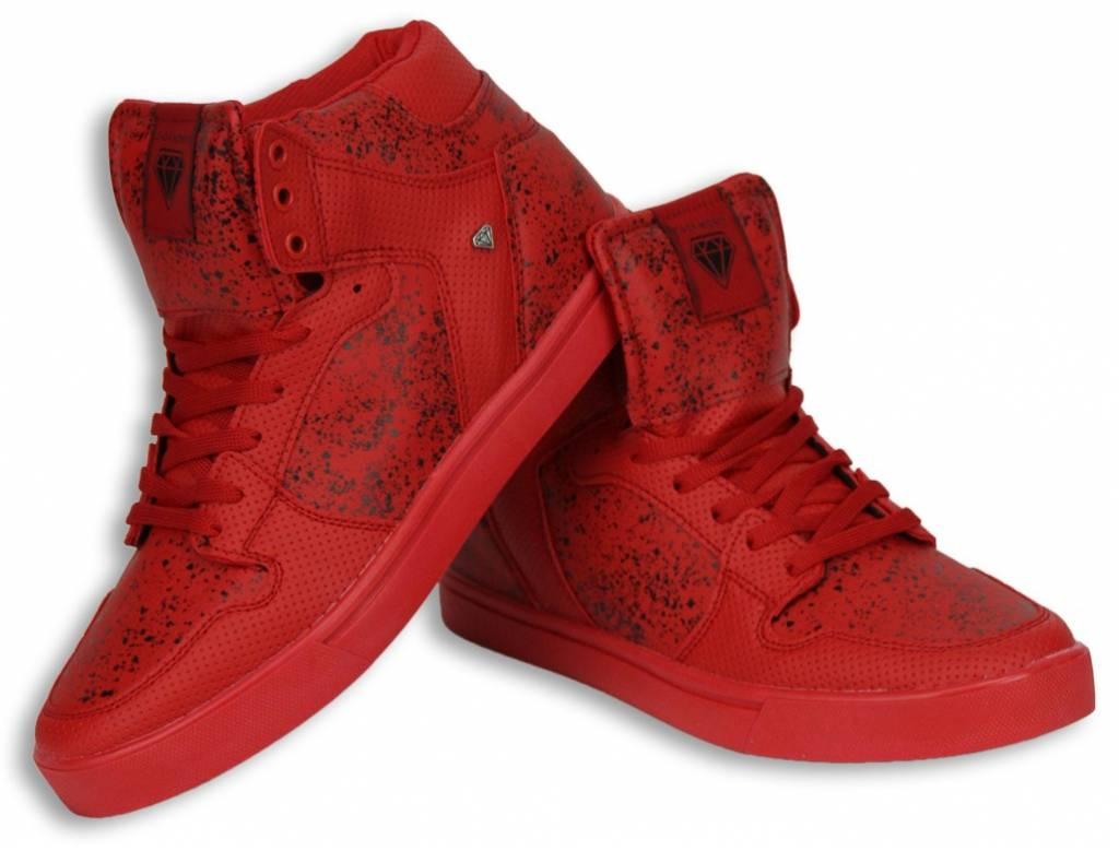 1d2cc9de9f Sneakers - Schuhe hoch Herren - Rot / Schwarz - Styleitaly.de