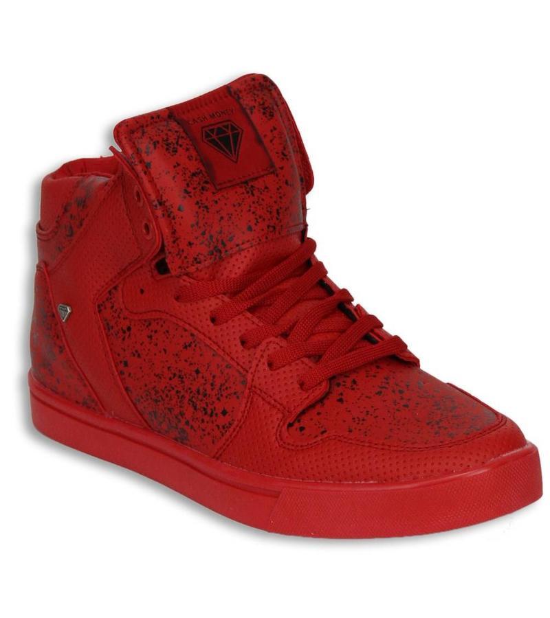 7d43872743 ... Cash Money Sneakers - Schuhe hoch Herren - Rot / Schwarz ...
