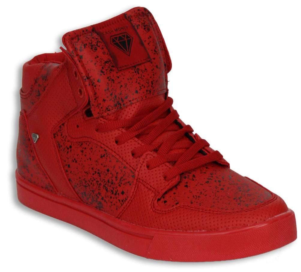 Rot Hoch Herren Schwarz Sneakers Schuhe dthQrs