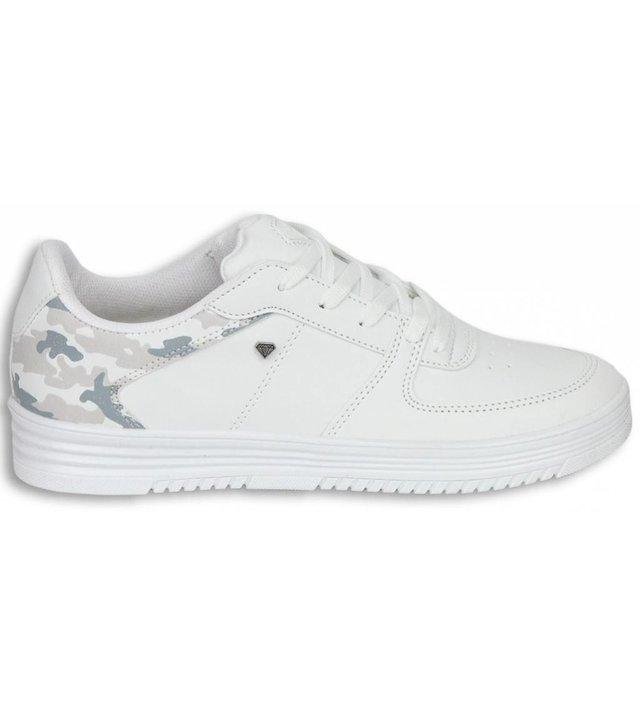 Cash Money Sneakers - Schuhe Tarnung Herren -Weiß