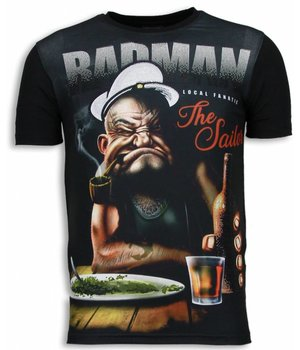 Local Fanatic Popeye Badman - Strass T-shirt - Schwarz