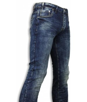 Black Ace Basic Jeans - Blue Washed Regular Fit - Blau