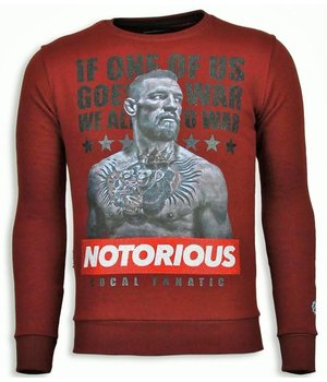 Local Fanatic Conor McGregor - Strass Sweater - Bordeaux