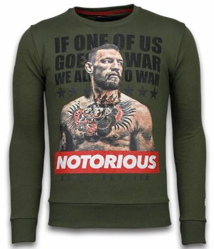 Local Fanatic Conor McGregor - Strass Sweater - Grün