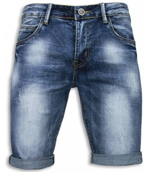 Black Ace Kurze Hosen Herren - Damaged - Blau
