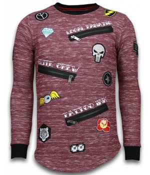 Local Fanatic Longfit Embriordry - Sweater Patches - Elite Crew - Bordeaux