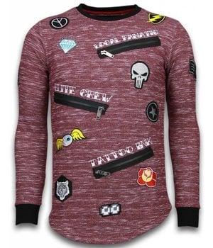 Local Fanatic Longfit Embriordry - Sweater Patches - Elite Crew - Bordeaux