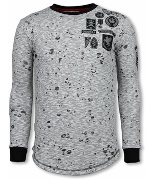 Local Fanatic Longfit Embriordry - Sweater Patches - Guerrilla - Grau