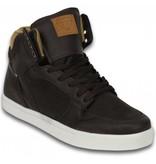 Cash Money Sneakers - Schuhe hoch Herren- Vintage Choco