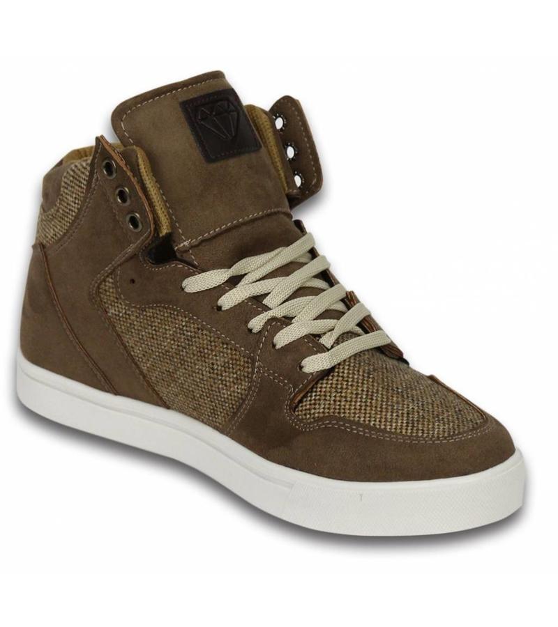 Sneakers Schuhe hoch Herren Riff Taupe