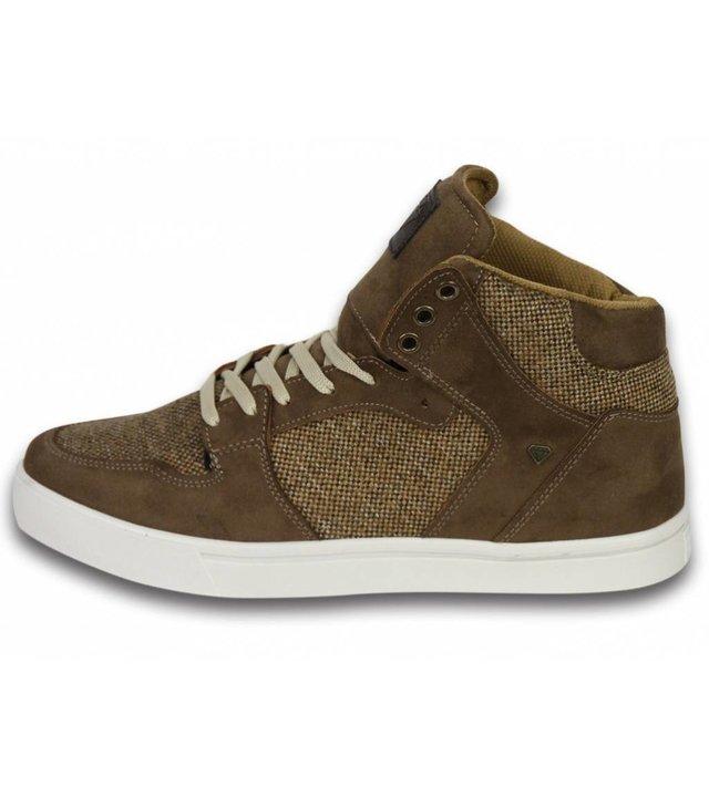 Cash Money Sneakers - Schuhe hoch Herren- Riff Taupe