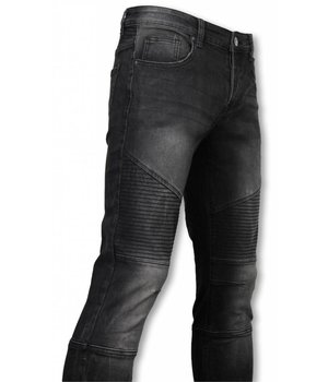Avenue Denim Basic Jeans - Biker Tapered Fit - Schwarz