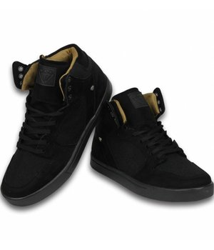 Cash Money Sneakers - Schuhe hoch Herren- Riff Schwarz