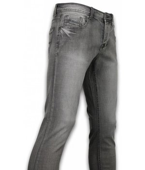 Orginal Ado Exklusive Basic Jeans - Regular Fit Casual 5 Pocket - Grau