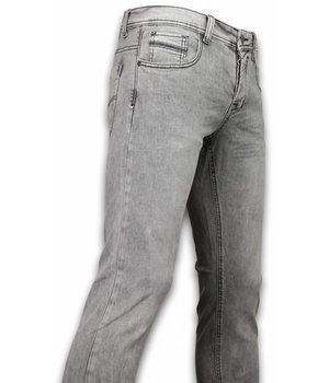 Orginal Ado Exklusive Basic Jeans - Regular Fit Casual 5 Pocket - Hellgrau