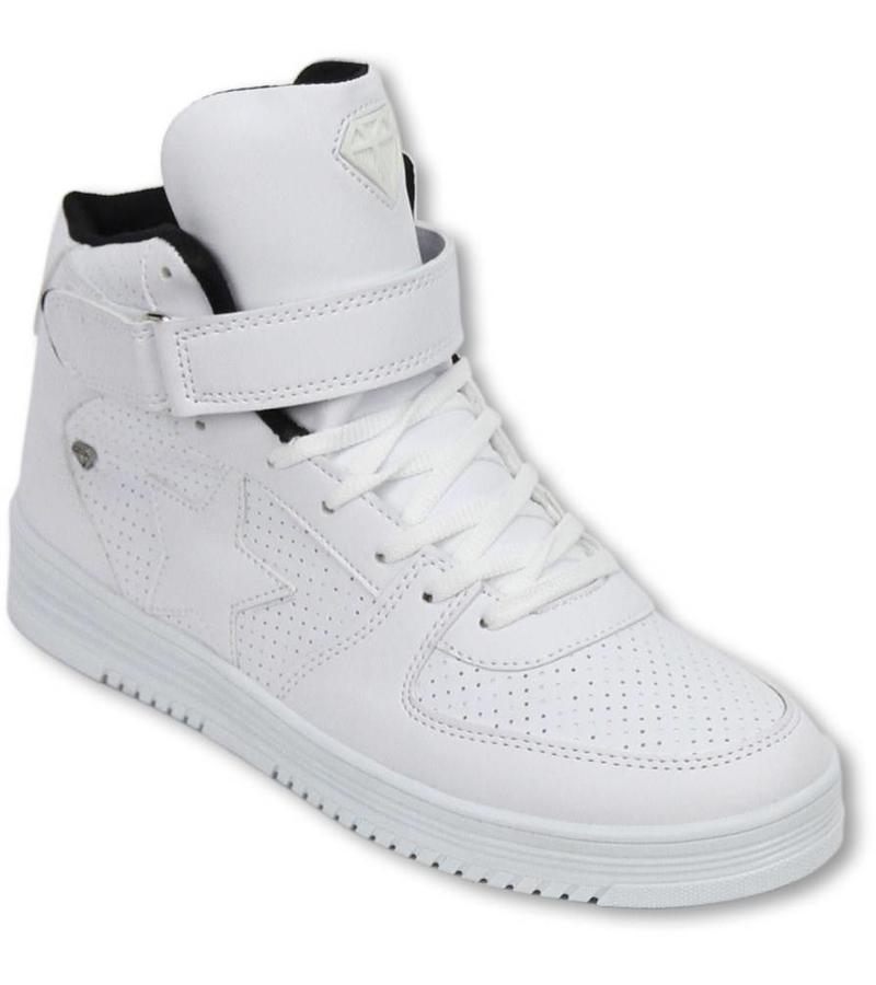 c04e96ba9b1647 ... Cash Money Sneakers - Schuhe Hoch Herren - Star Weiß Schwarz ...