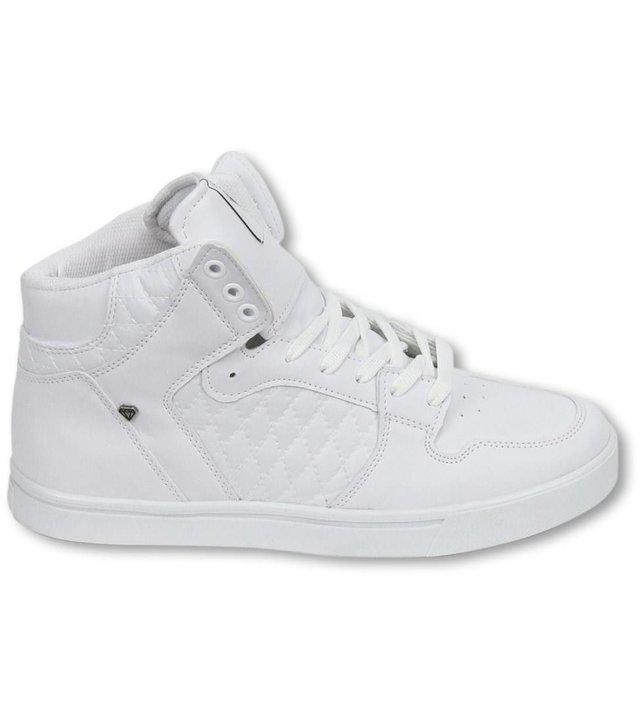 Cash Money Sneakers - Schuhe Hoch Herren - Jailor Weiß Matt