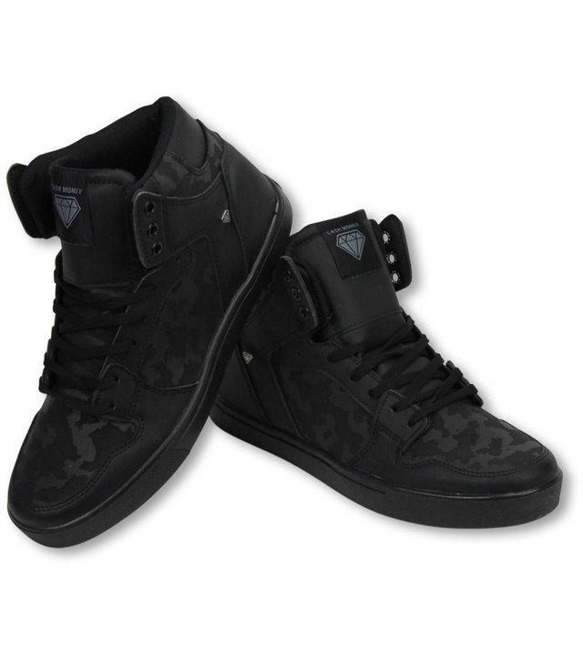 Cash Money Sneakers - Schuhe Hoch Herren - Army Voll Schwarz