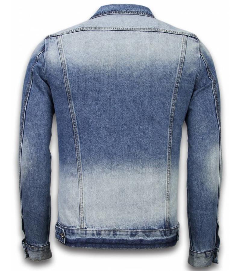 Bruno Leoni Denim Jacke Herren  - Stonewashed Look - Blau
