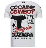 Local Fanatic Cocaine Cowboy - Strass T-shirt - Weiß