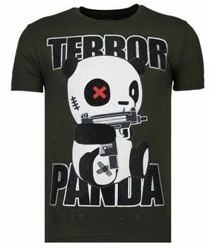 Local Fanatic Terror Panda - Strass T-shirt - Grün