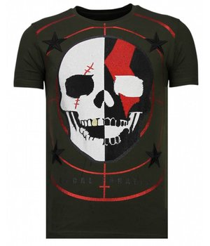 Local Fanatic God Of War - Strass T-shirt - Grün