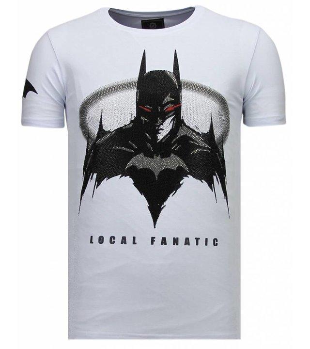 Local Fanatic Badman - Strass T-shirt - Weiß