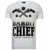 Local Fanatic Bandit Chief - Strass T-shirt - Weiß