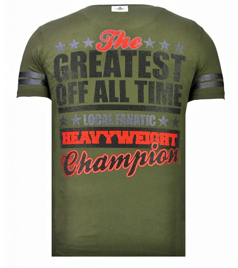 Local Fanatic Greatest Of All Time - Strass T-shirt - Grün