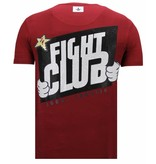 Local Fanatic Fight Club Mario - Strass T-shirt - Bordeaux