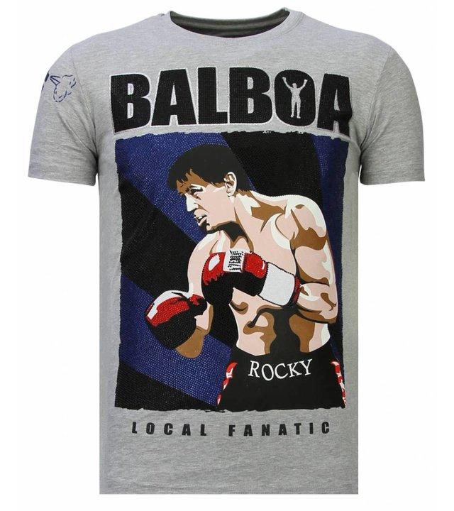 Local Fanatic Balboa - Strass T-shirt - Grau