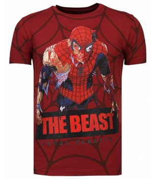 Local Fanatic The Beast Spider - Strass T-shirt - Bordeaux
