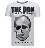 Local Fanatic The Don Skull - Strass T-shirt - Weiß