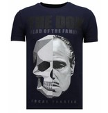 Local Fanatic The Don Skull - Strass T-shirt - Blau