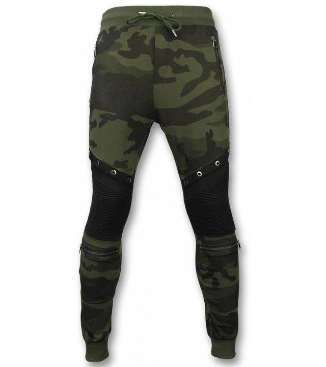 Enos Tarnung Hosen - Casual Jogginghose - Camouflage Biker - Grün