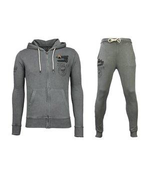Bread & Buttons Trainingsanzüge Basic - Army Sweatsuit - Anthrazit