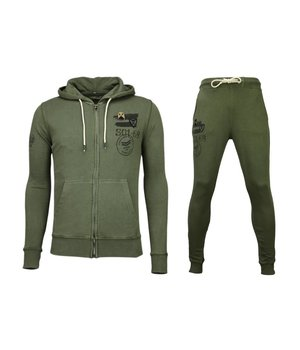Bread & Buttons Trainingsanzüge Basic - Army Sweatsuit - Grün